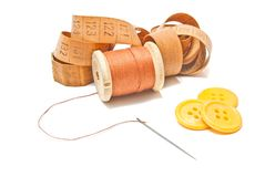 Thread, meter and buttons Royalty Free Stock Image