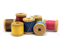 Thread and needle Stock Photo