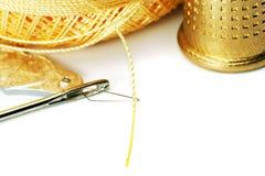 Thread in needle Royalty Free Stock Photos