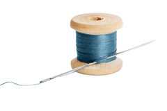 Thread with needle Royalty Free Stock Image