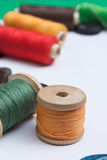 Thread with a needle and buttons Stock Photography
