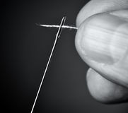 Thread the needle. Stock Photography