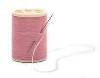 Thread with needle stock image