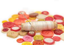 Thread and needle Royalty Free Stock Image