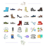 Thread, purchase, fashion and other web icon in black style.  Royalty Free Stock Images