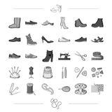 Thread, purchase, fashion and other web icon in black style.atelier, tailor, style icons in set collection. Stock Photo