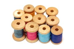 Thread reels Stock Photo