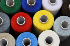Thread reels Stock Image