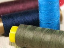 Thread reels Royalty Free Stock Photos