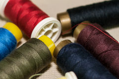 Thread reels Stock Photos