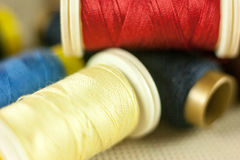 Thread reels Stock Photography