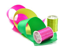 Thread and ribbon Stock Photo
