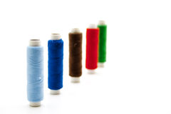 Thread rolls in different colors Royalty Free Stock Image