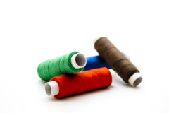 Thread rolls in different colors Royalty Free Stock Photo