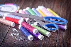 Thread and scissors Royalty Free Stock Photo
