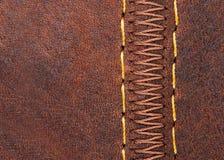 Thread seam on leather Royalty Free Stock Photo