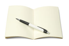 Thread Sew Book and Ball Point Pen Royalty Free Stock Photography