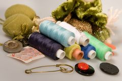 Thread sewing Royalty Free Stock Photos