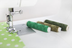 Thread and sewing machine Stock Images