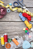 Thread and sewing Stock Image