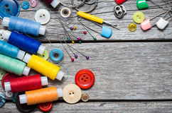 Thread and sewing Royalty Free Stock Images