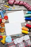 Thread and sewing Royalty Free Stock Photos