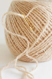 Thread in  in the shape of a heart Royalty Free Stock Photos