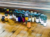Thread Spindles Royalty Free Stock Images