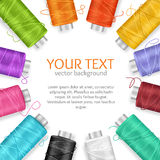 Thread Spool Banner. Vector Stock Image