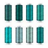 Thread Spool Set. Bright Plastic Bobbin. Isolated On White Background For Needlework And Needlecraft. Stock Vector. Illustration Stock Images