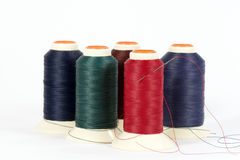 Thread on Spools Stock Image