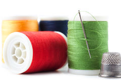 Thread spools Royalty Free Stock Images