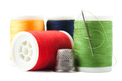 Thread spools Stock Image