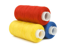 Thread spools isolated Stock Photography