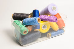 Thread spools Royalty Free Stock Photos