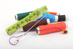 Thread and Tailoring material Royalty Free Stock Images
