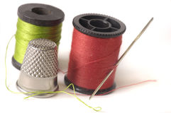 Thread Thimble and Needle Royalty Free Stock Image