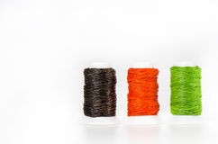 Thread Waxed isolate on white background. Royalty Free Stock Images