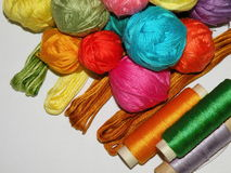 Thread and yarn Royalty Free Stock Photos