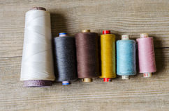 Thread (yarn). Thread is made from a wide variety of materials. Following table lists common materials, a general description and what they are supposed to be Royalty Free Stock Photos
