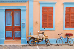 Threadbare bike in Rhodes Greece Royalty Free Stock Photo