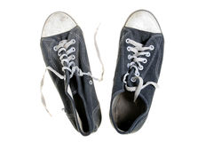 Threadbare gym-shoes Royalty Free Stock Image