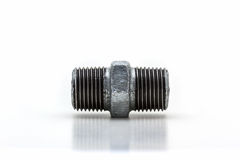 Threaded connector (Hexagon Nipple) ,pipe fitting. Royalty Free Stock Photography