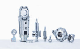 Threaded End Safety, Relief Valves, Butterfly Valves, Panel sliders, Check Valves. Threaded End Safety, Relief Valves, Butterfly Valves, Panel sliders, Disco stock photo