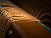 Threaded Loom. A closeup of a threaded loom Stock Image