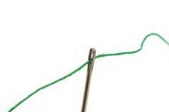 Free Threaded Needle On White Stock Photos - 1858923