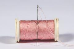 Threaded needle Stock Image