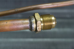 Threaded pipe connection Royalty Free Stock Image