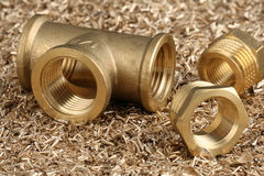 Threaded pipe fitting Royalty Free Stock Photos