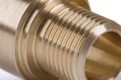 threaded pipe fitting Stock Image
